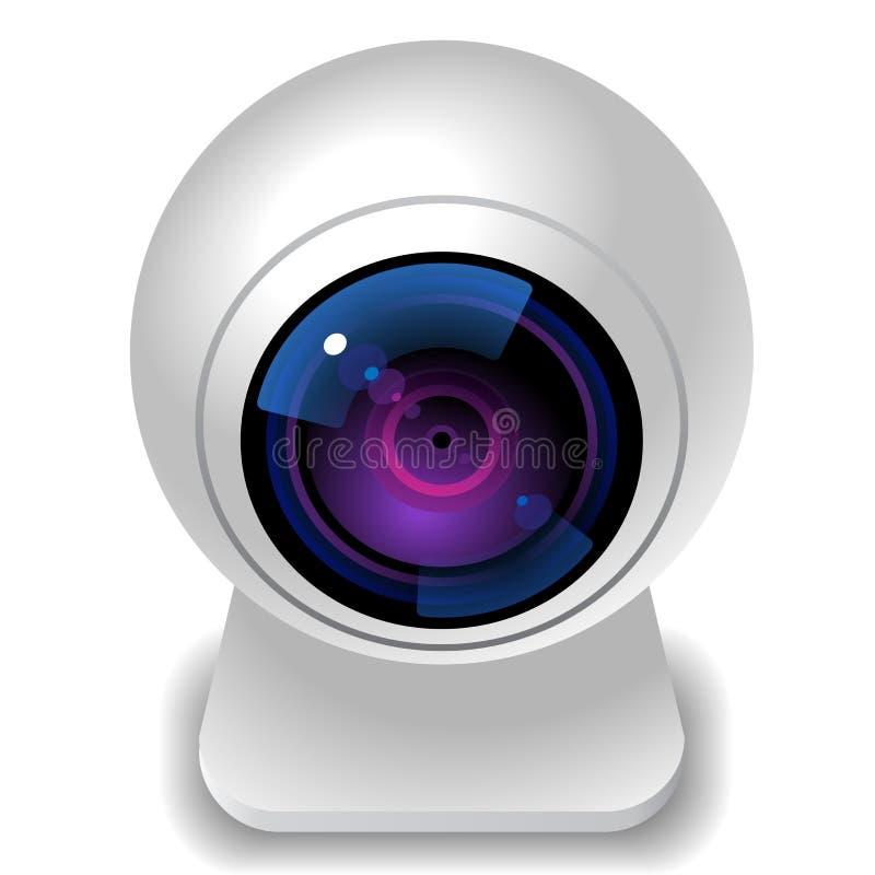 Ícone para a câmara web ilustração stock