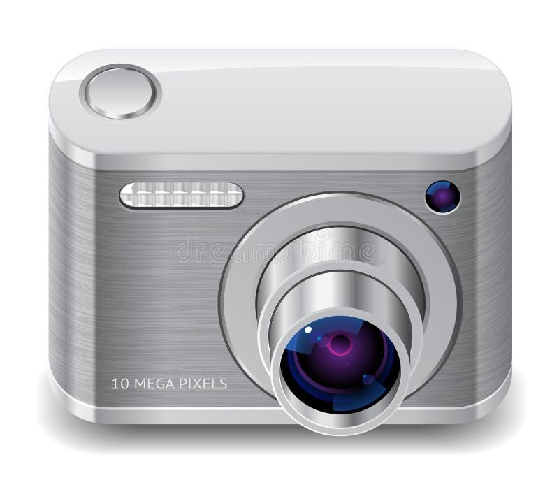 Ícone para a câmera compacta da foto ilustração royalty free
