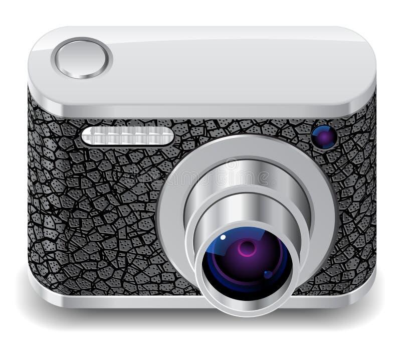 Ícone para a câmera compacta da foto ilustração do vetor