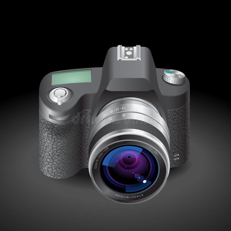 Ícone para a câmera de SLR ilustração royalty free