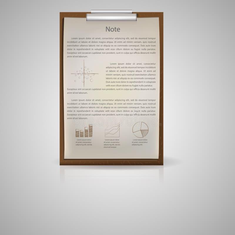 Ícone para o bloco de notas para econômico ilustração royalty free