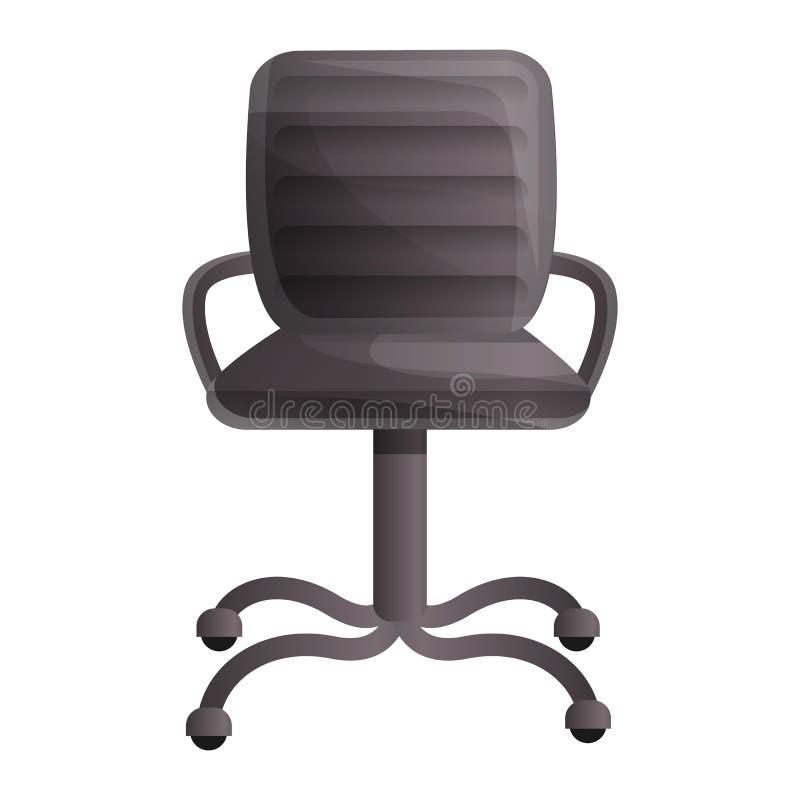 Ícone pequeno da cadeira de couro, estilo dos desenhos animados ilustração do vetor