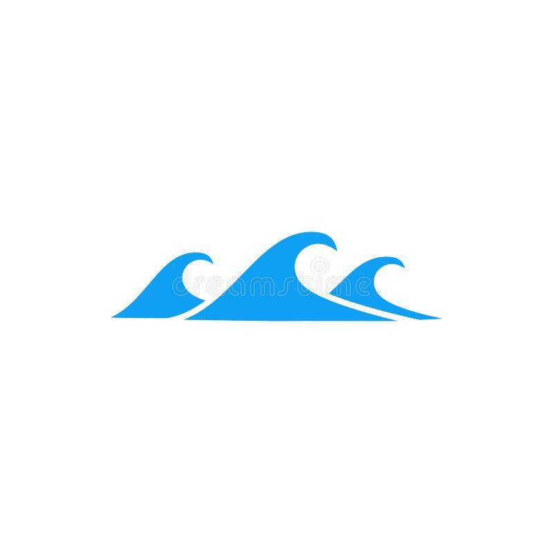 Ícone pequeno da onda do mar, estilo simples ilustração do vetor