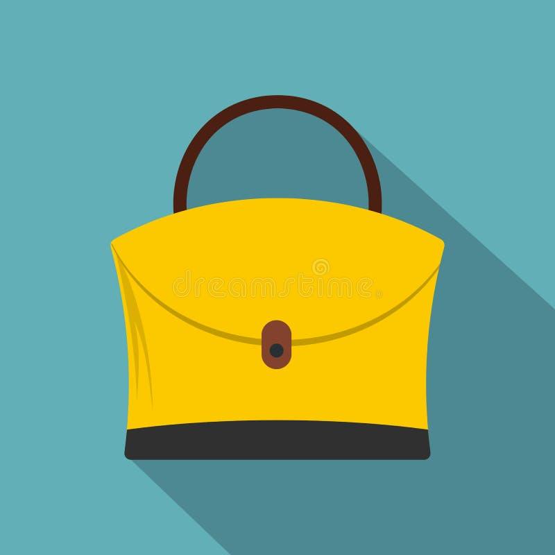 Ícone pequeno do saco da mulher, estilo liso ilustração do vetor
