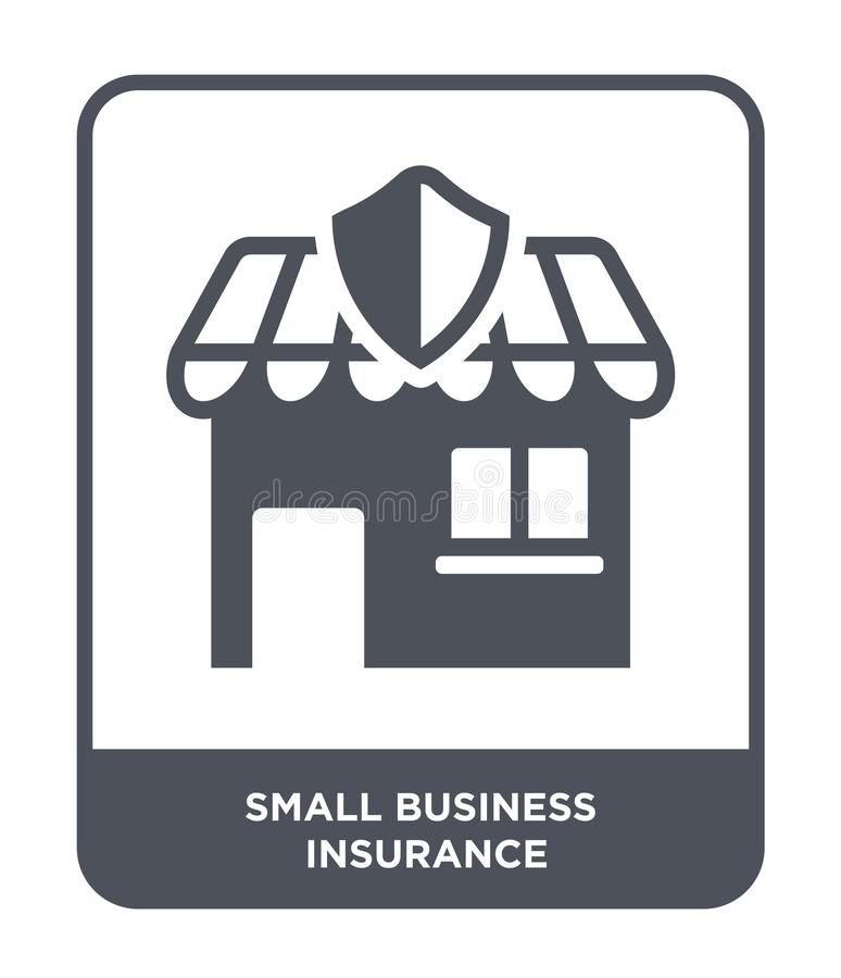 ícone pequeno do seguro comercial no estilo na moda do projeto ícone pequeno do seguro comercial isolado no fundo branco Empresa  ilustração do vetor