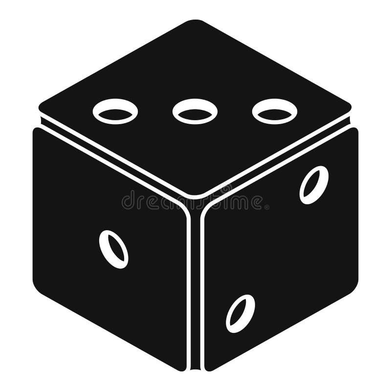 Ícone pequeno dos dados, estilo simples ilustração do vetor