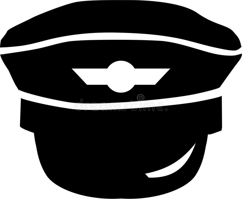 Ícone piloto do chapéu ilustração do vetor