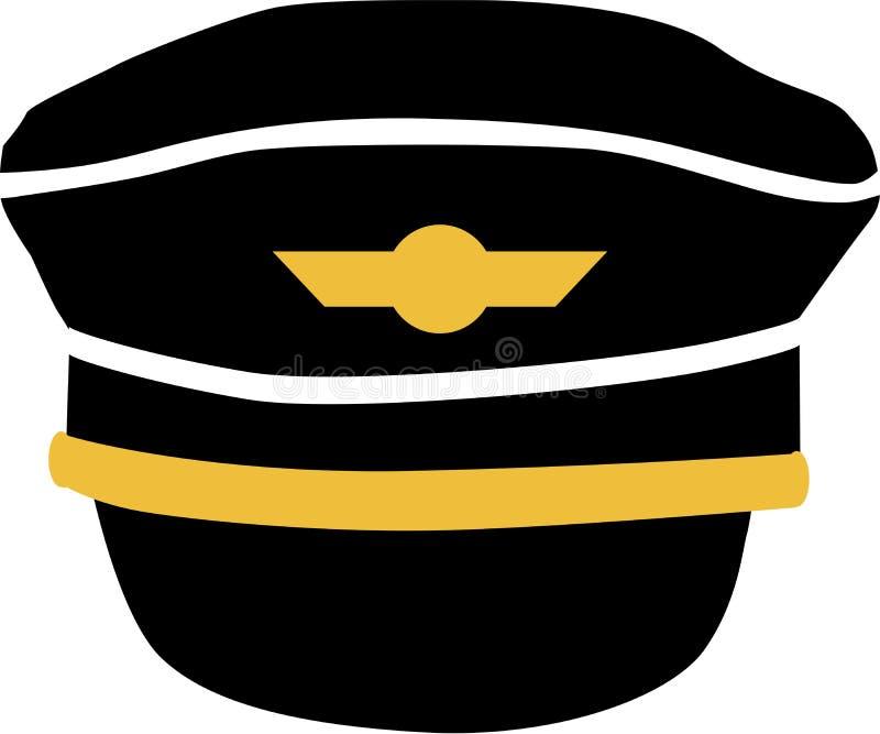 Ícone piloto do chapéu ilustração stock