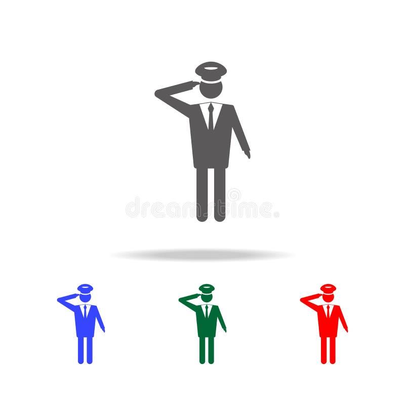 Ícone piloto Elementos da profissão dos povos em multi ícones coloridos Ícone superior do projeto gráfico da qualidade Ícone simp ilustração stock