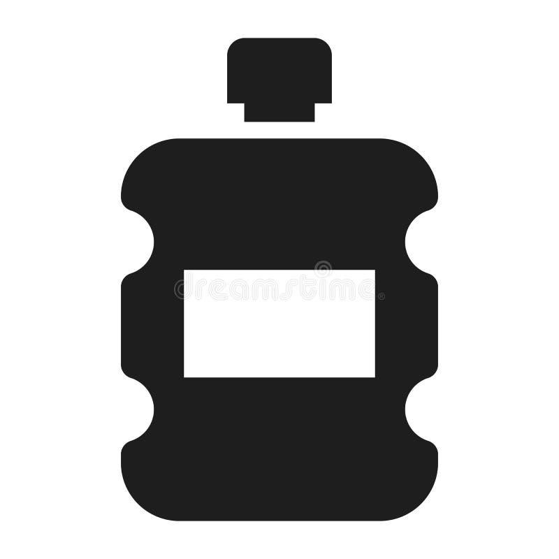 Ícone plástico da garrafa de água, estilo simples ilustração royalty free