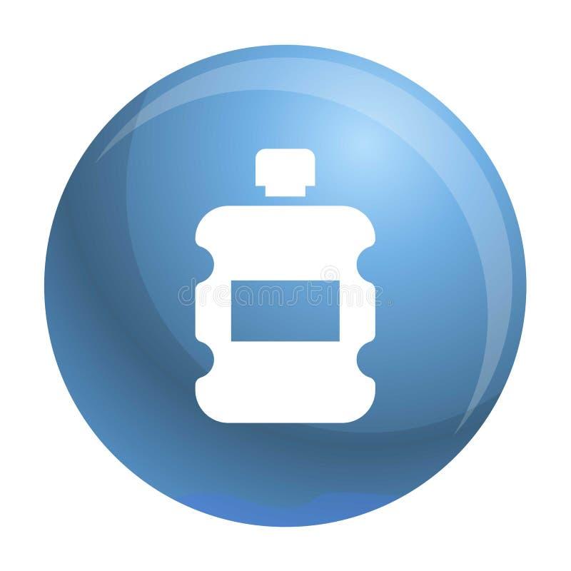 Ícone plástico da garrafa de água, estilo simples ilustração do vetor