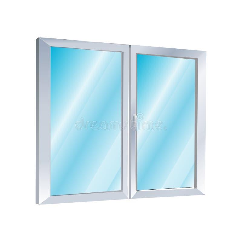 Ícone plástico da janela ilustração do vetor