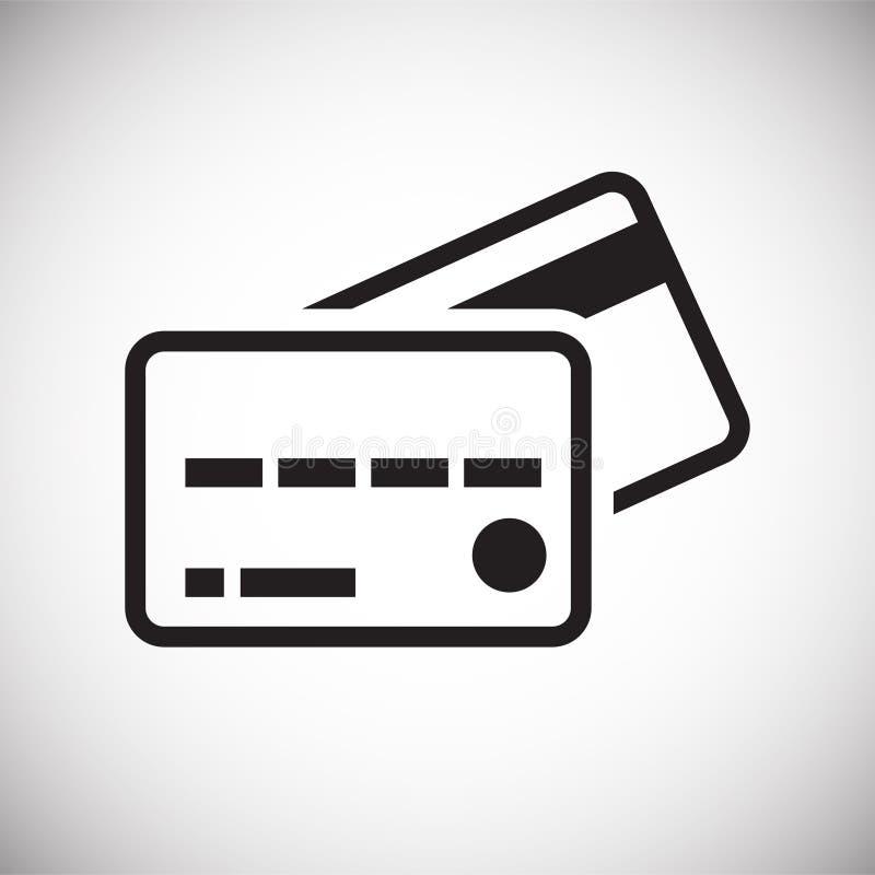Ícone plástico do cartão do negócio no fundo branco para o gráfico e o design web, sinal simples moderno do vetor Conceito do Int ilustração royalty free