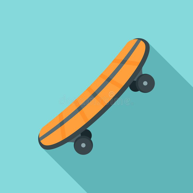 Ícone plástico do skate, estilo liso ilustração royalty free