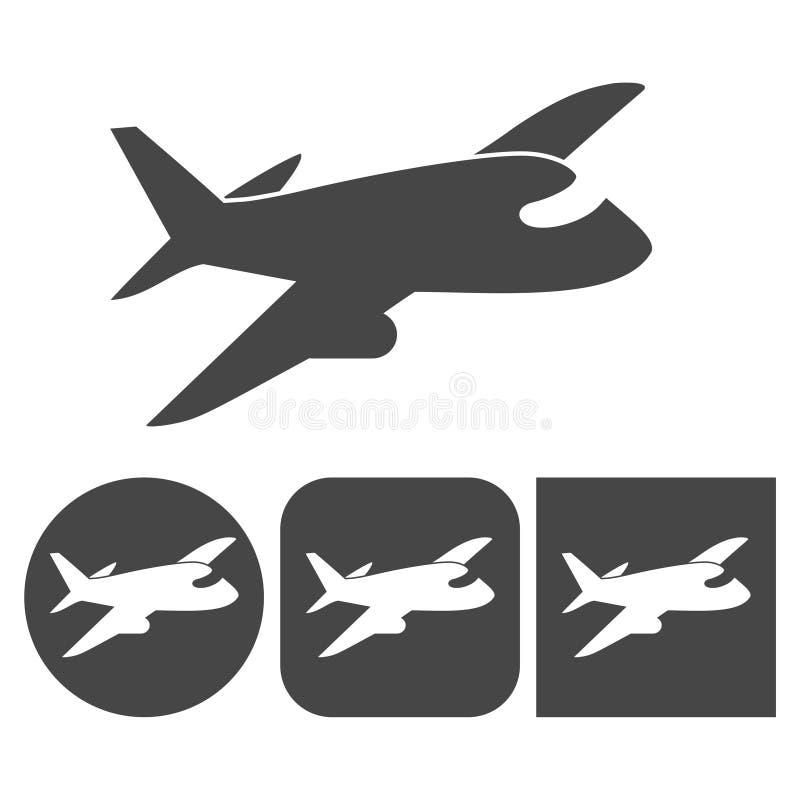 Ícone plano - ícones ajustados ilustração royalty free