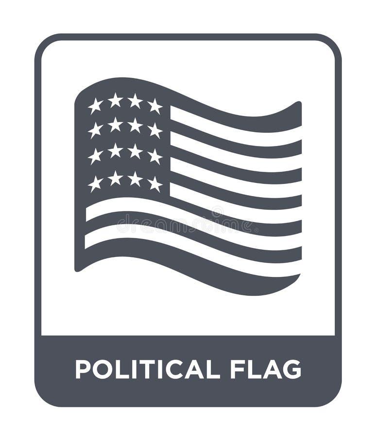 ícone político da bandeira no estilo na moda do projeto ícone político da bandeira isolado no fundo branco ícone político do veto ilustração stock