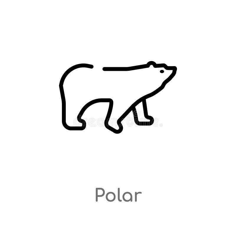 ícone polar do vetor do esboço linha simples preta isolada ilustração do elemento do conceito da natureza ícone polar do curso ed ilustração do vetor