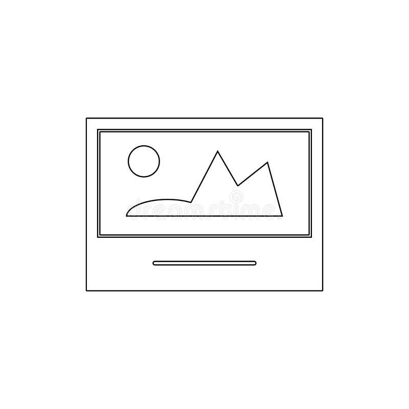 Ícone polaroid do esboço da imagem da foto da imagem Os sinais e os s?mbolos podem ser usados para a Web, logotipo, app m?vel, UI ilustração do vetor