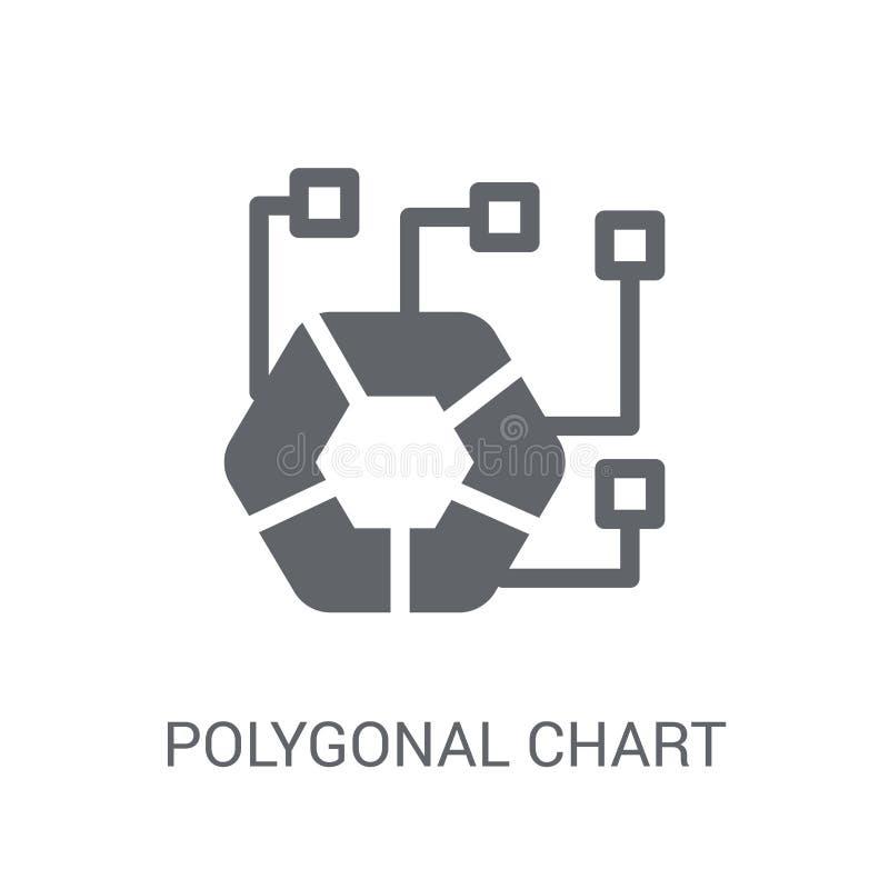 Ícone poligonal da carta Conceito poligonal na moda do logotipo da carta no whi ilustração do vetor