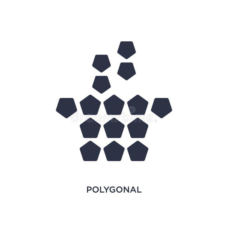 ícone poligonal do copo de café no fundo branco Ilustração simples do elemento do conceito da geometria ilustração do vetor