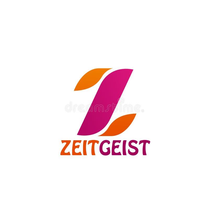 Ícone portal social da letra Z do vetor da rede ou da notícia ilustração do vetor