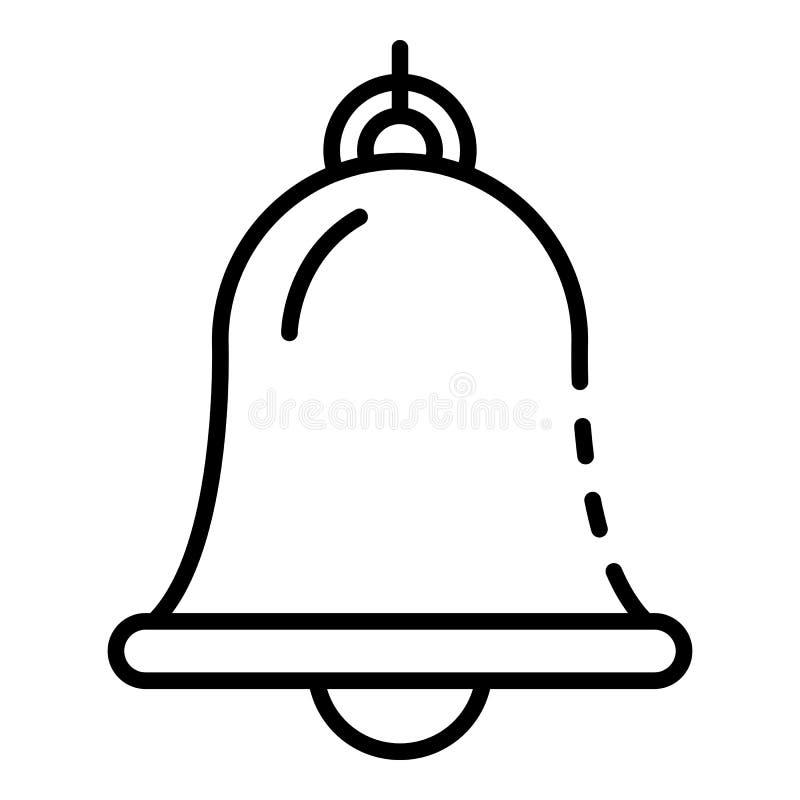 Ícone portuário marinho do sino, estilo do esboço ilustração stock