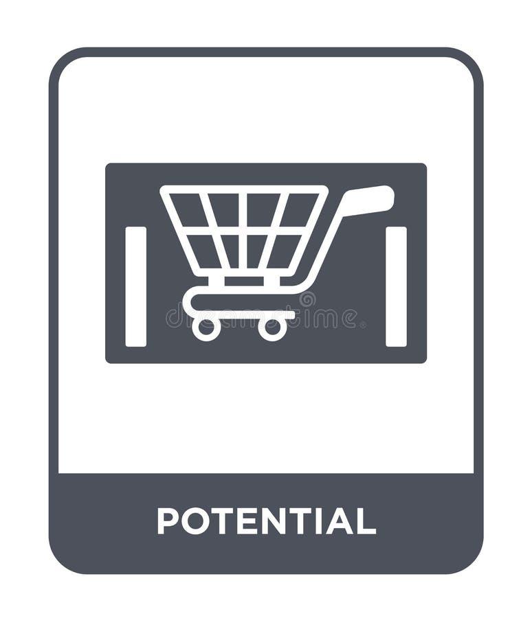 ícone potencial no estilo na moda do projeto ícone potencial isolado no fundo branco plano simples e moderno do ícone potencial d ilustração royalty free