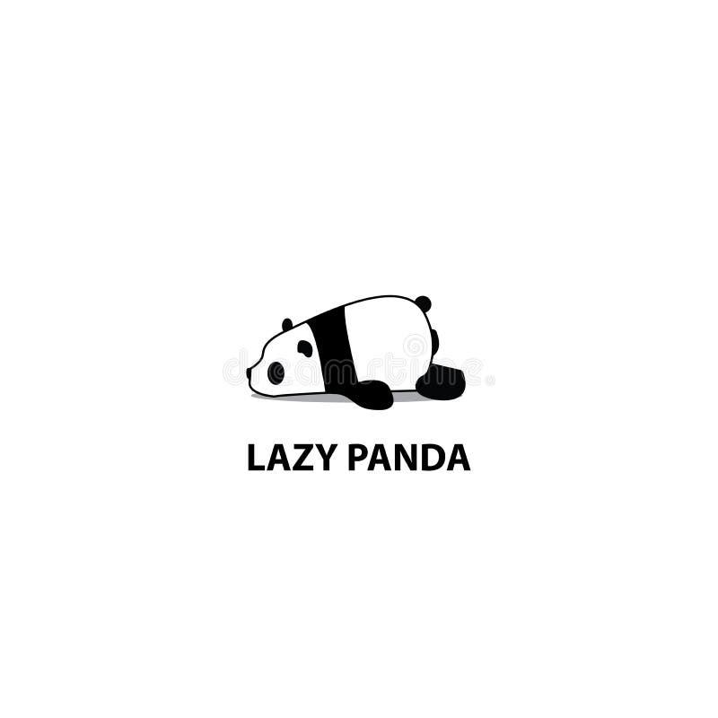 Ícone preguiçoso da panda, projeto do logotipo ilustração do vetor