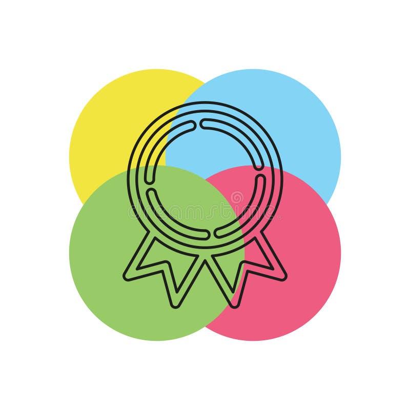 Ícone premiado da medalha - medalha da concessão do vetor ilustração royalty free