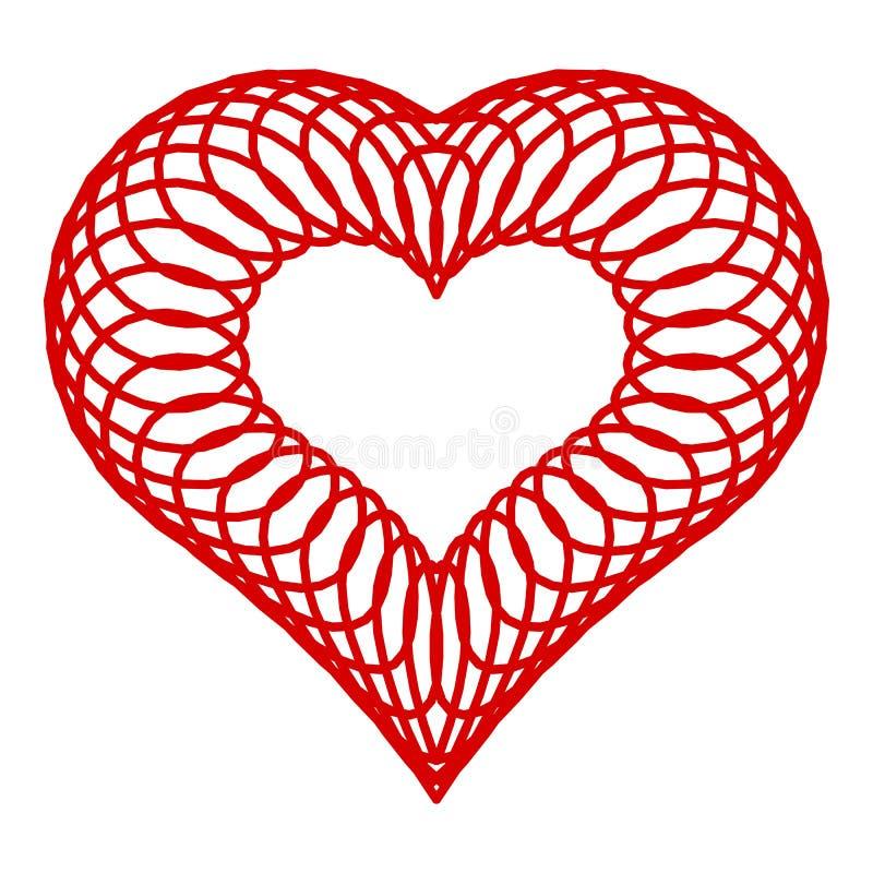 Ícone prendido do coração, estilo simples ilustração do vetor