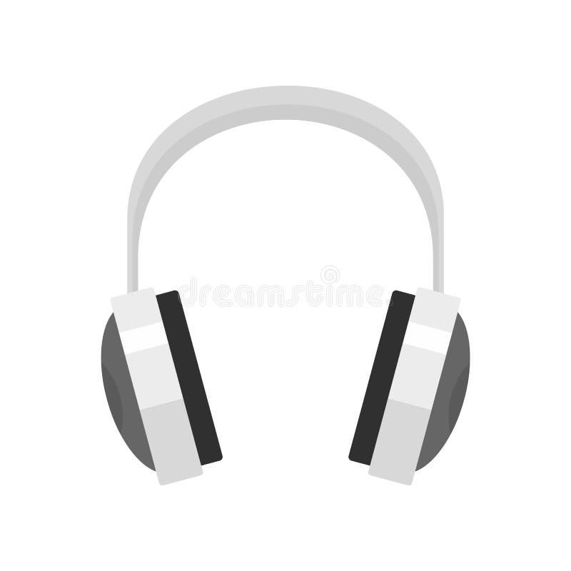 Ícone prendido dos fones de ouvido, estilo liso ilustração stock
