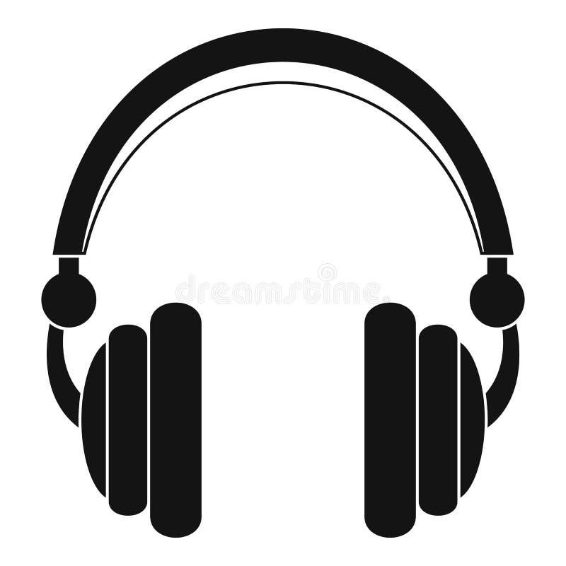 Ícone prendido dos fones de ouvido, estilo simples ilustração do vetor
