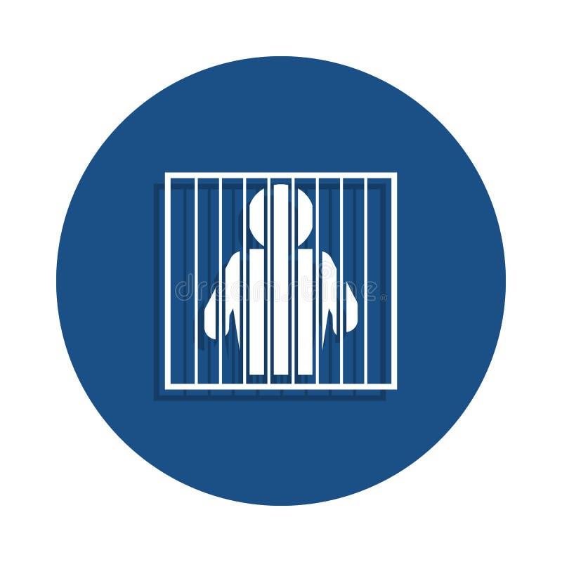 ícone prendido no estilo do crachá Um do ícone da coleção da polícia pode ser usado para UI, UX ilustração royalty free