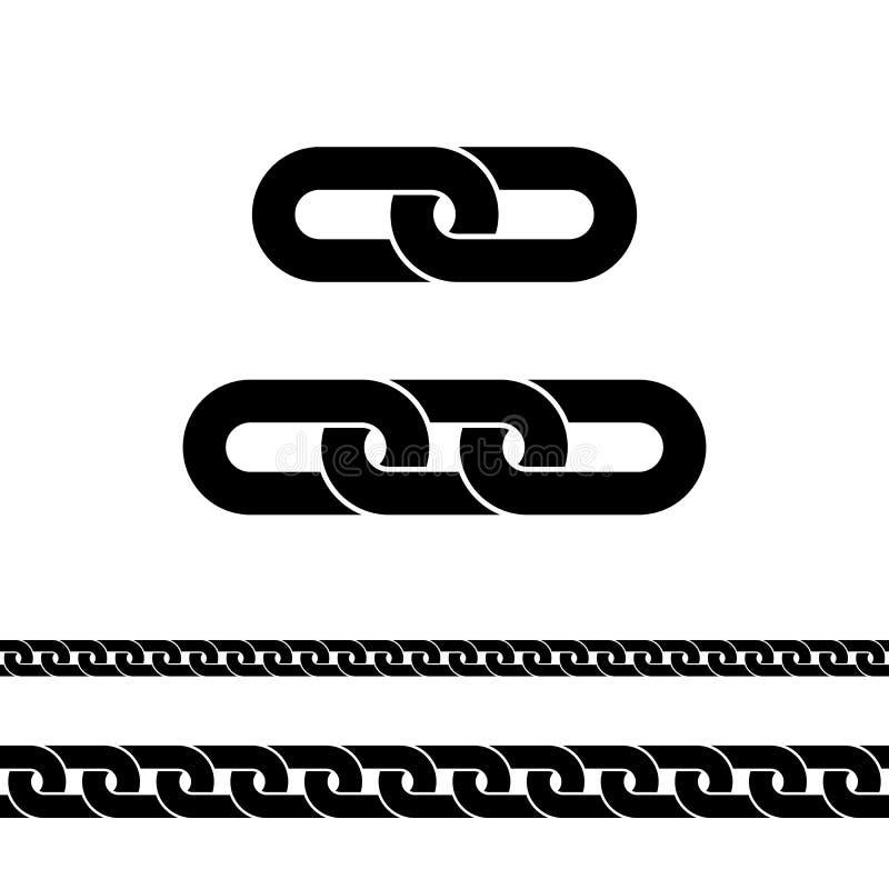Ícone preto Chain Símbolo da conexão para o projeto da site, logotipo, app, ui Ilustração do vetor isolada no branco ilustração royalty free