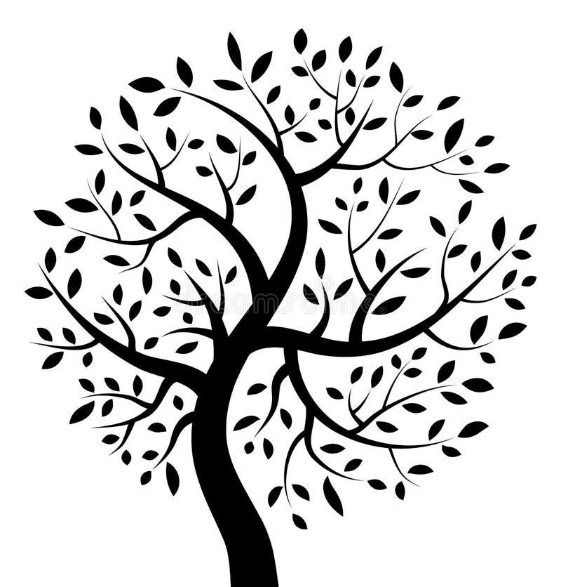 Ícone preto da árvore ilustração royalty free