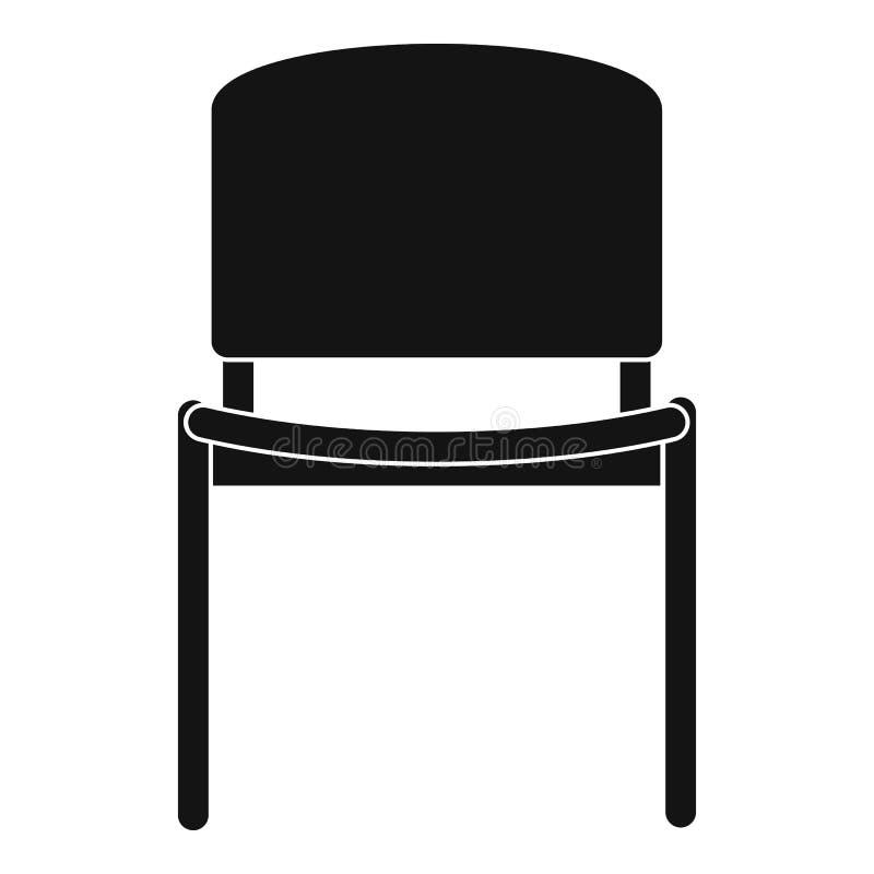 Ícone preto da cadeira do escritório, estilo simples ilustração do vetor