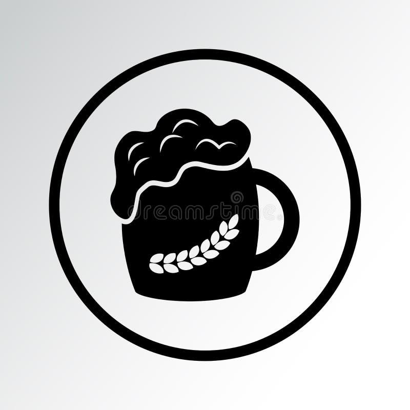 Ícone preto da cerveja Ilustra??o do vetor ilustração royalty free