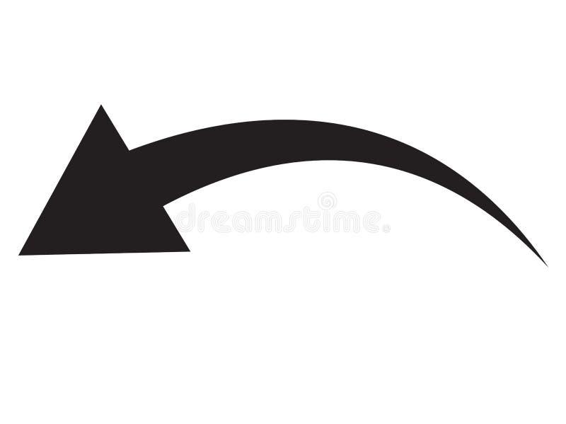 Ícone preto da seta no fundo branco Estilo liso ícone para seu projeto do site, logotipo da seta, app, UI a seta indicou ilustração royalty free