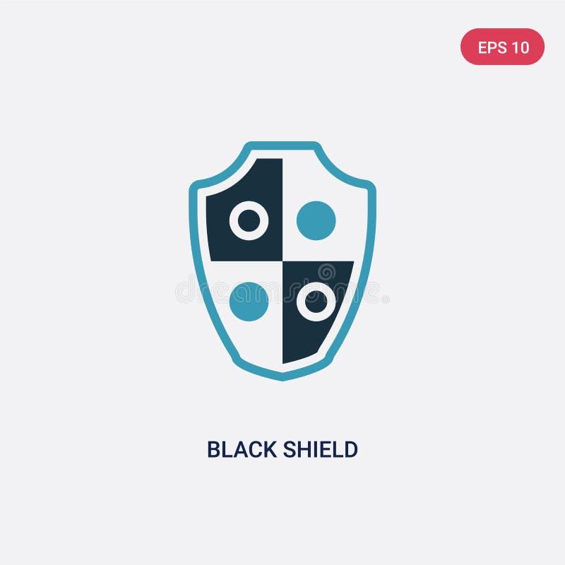 Ícone preto de duas cores do vetor do protetor do conceito da segurança o símbolo preto azul isolado do sinal do vetor do proteto ilustração royalty free