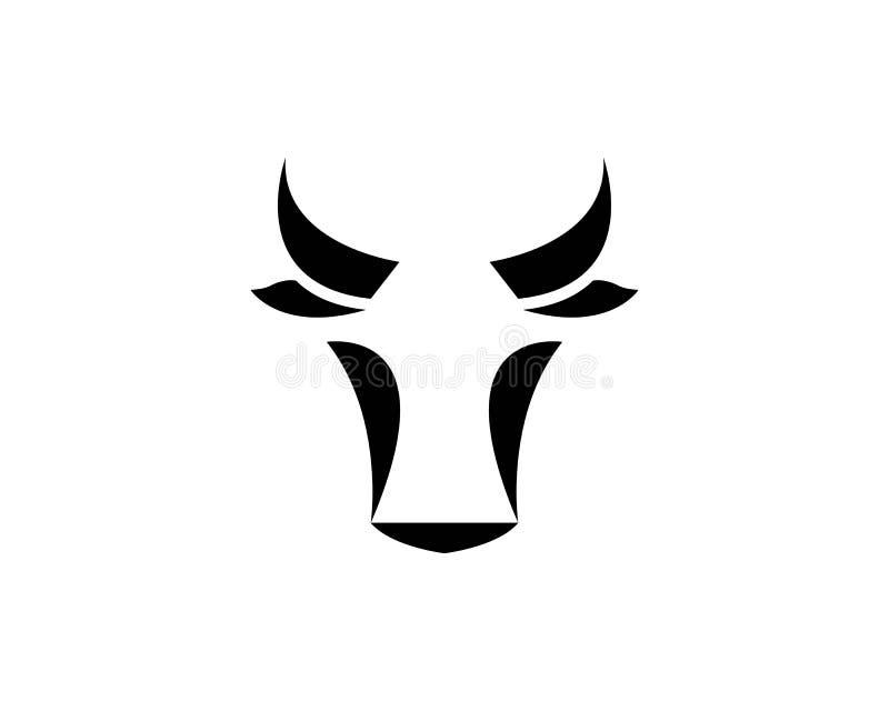 Ícone principal da vaca e do touro ilustração royalty free