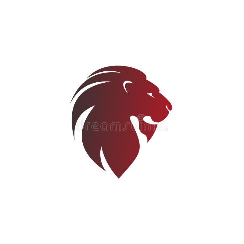 Ícone principal do leão, projeto do vetor do logotipo ilustração stock
