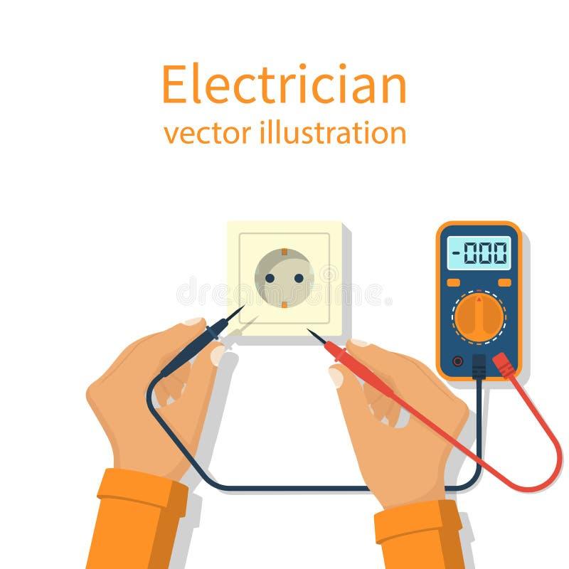 Ícone profissional do eletricista ilustração royalty free