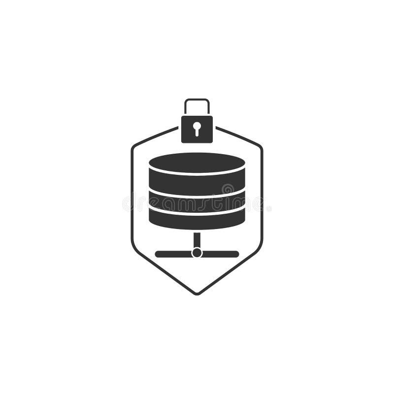 Ícone protegido do servidor Elemento do ícone da segurança do Internet para apps móveis do conceito e da Web O ícone protegido de ilustração royalty free
