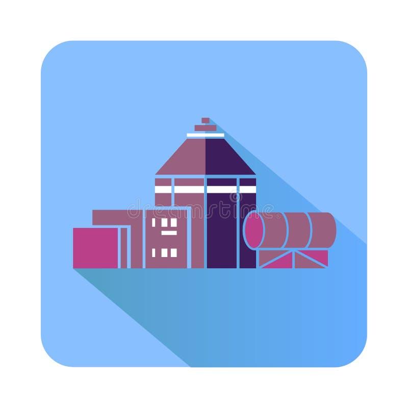 Ícone químico do hangar, estilo liso ilustração do vetor