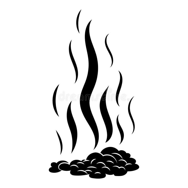 Ícone queimado da fogueira, estilo simples ilustração royalty free