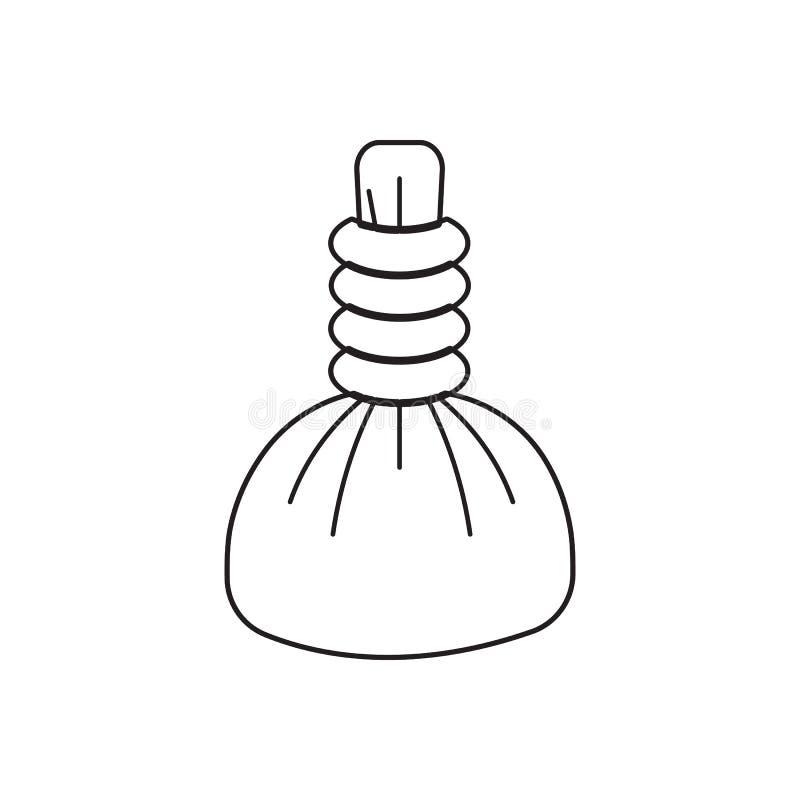 Ícone quente da compressa dos termas Elemento do barbeiro para o conceito e o ícone móveis dos apps da Web Esboço, linha fina íco ilustração stock