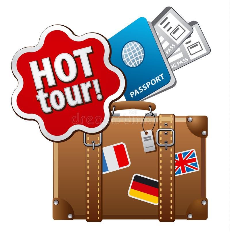 Ícone quente da excursão ilustração stock