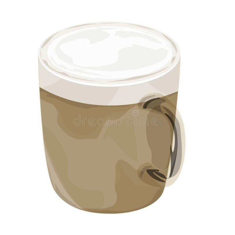 Ícone quente do vetor do café do cappuccino fotos de stock royalty free