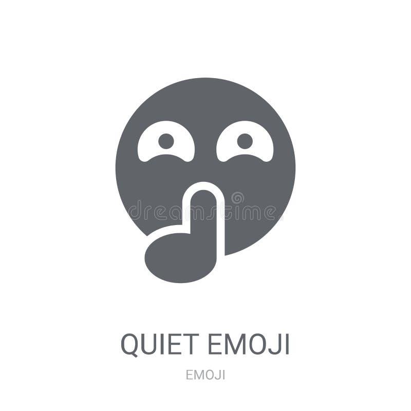 Ícone quieto do emoji  ilustração royalty free