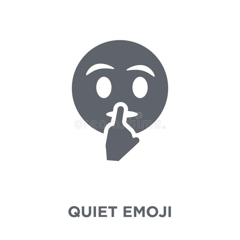 Ícone quieto do emoji da coleção de Emoji ilustração royalty free